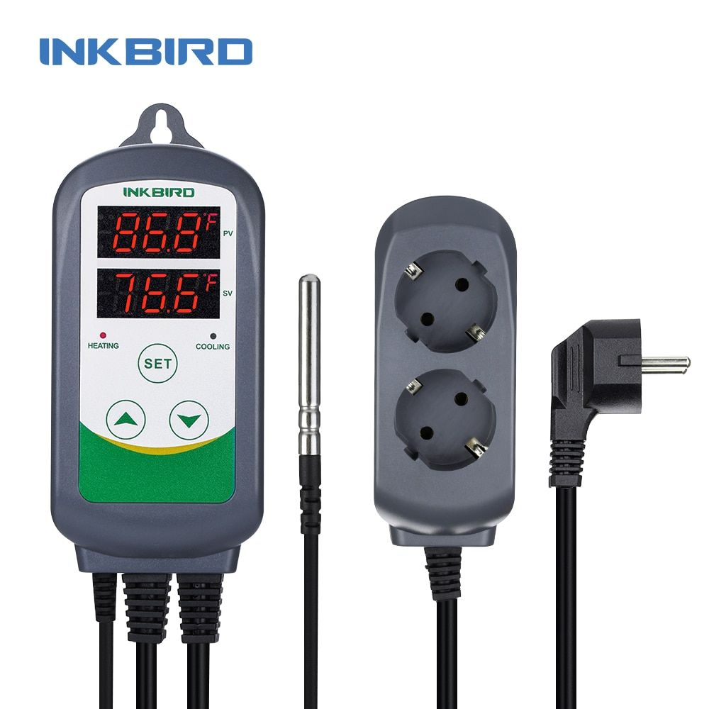 Inkbird ITC-308 Heating and Cooling Dual Relay Temperature Controller, Carboy, Fermenter, Greenhouse Terrarium Temp. Control