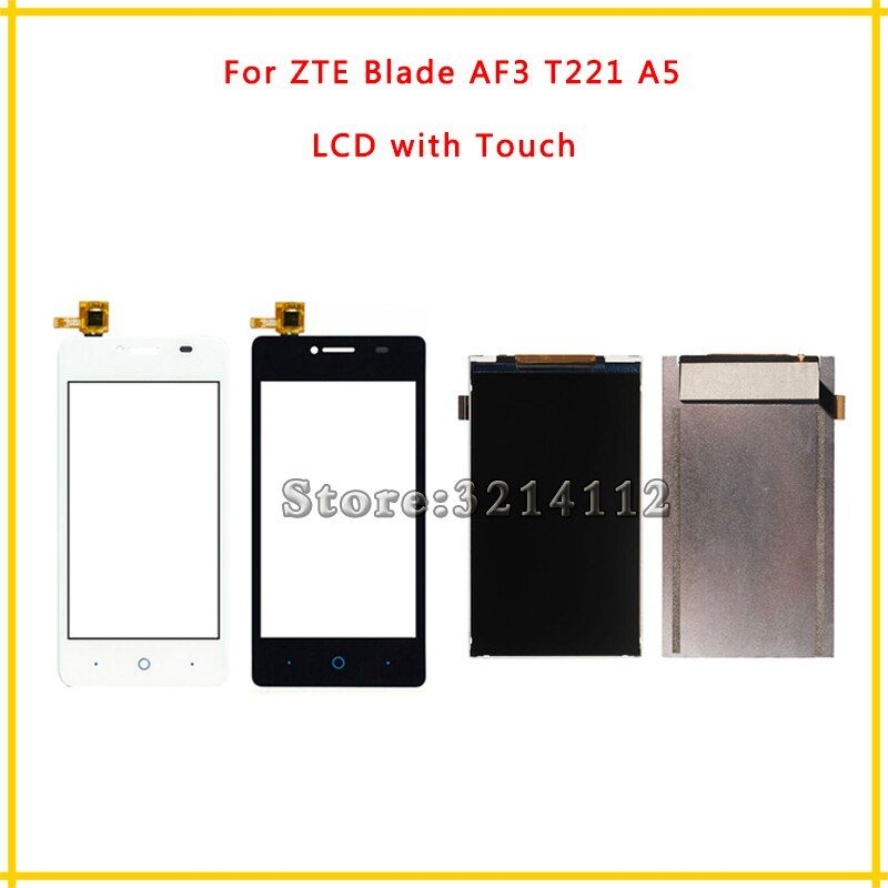Replacement LCD Display Screen or Touch Screen Digitizer Sensor For ZTE Blade AF3 T221 A5 + Tracking Code