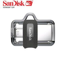 Sandisk Dual OTG USB Flash Drive 64GB 32GB 16GB 128GB SDDD3 Pen Drives Extreme high speed  PenDrives 3.0 for Android phone