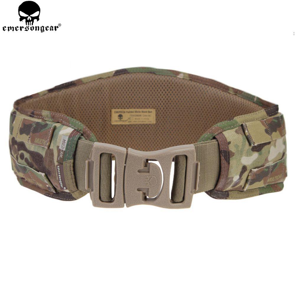 EMERSON Molle taille ceinture chasse rembourré Emersongear hommes Airsoft Combat ceinture MOLLE tactique EM9086 Multicam 1000D nylon