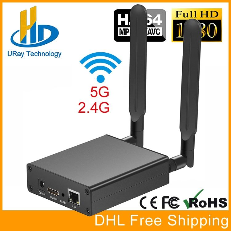 DHL Free Shipping MPEG-4 AVC H.264 WIFI HDMI Video Encoder HDMI Transmitter Live Broadcast Encoder Wireless H264 IPTV Encoder