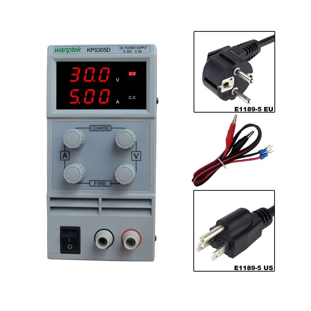 30V 5A DC Regulated Power High Precision Adjustable Supply Switch Power Supply Maintenance Protection Function KPS305D