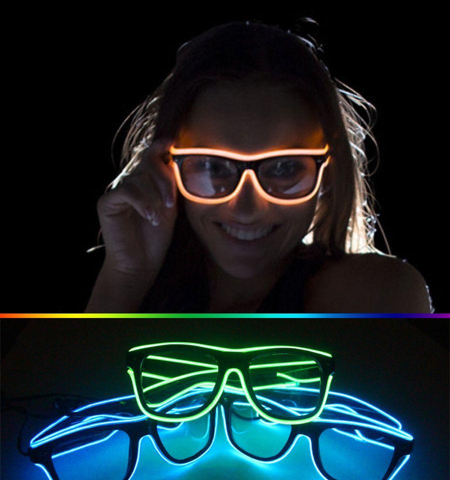 3 Modos de Rápido El Intermitente Led Gafas Luminosa Iluminación Del Partido Que Brilla Intensamente Colorido Juguetes Clásicos para Dj Luz Brillante Regalo de Vacaciones