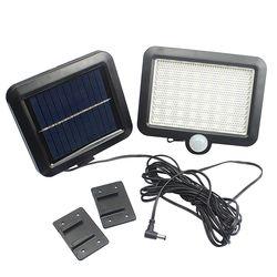 56 LED impermeable luz solar PIR sensor de movimiento lámpara de pared del jardín al aire libre parques seguridad emergencia calle luz solar del jardín