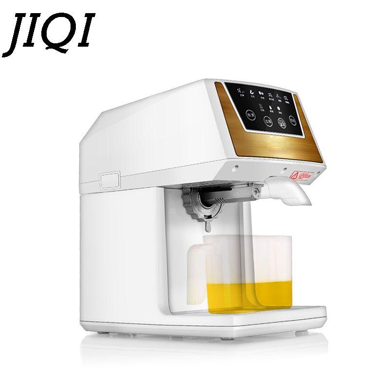 JIQI Öl Extraktion Kuchen Ölpresse Maschine Elektrische Mini Extractor Automatische Samen Mutter Erdnuss Sesam Wärme Gebraten Öl Presser