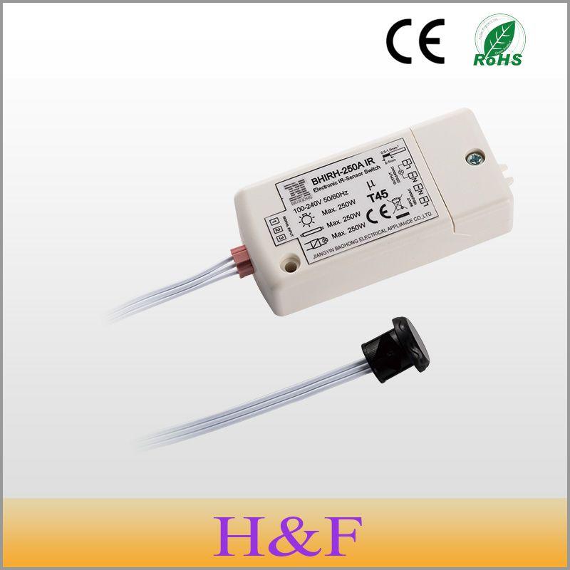 HoneyFly 2 pcs/lot Unique 250 W IR Capteur Interrupteur 100-240 V IP20 Détection 5-10 cm Motion Commutateur de détection Commutateur D'induction Infrarouge