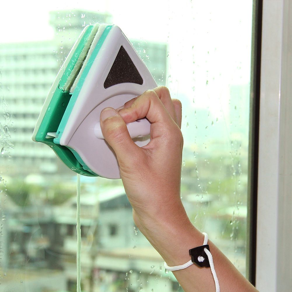 5-12mm Home Window Glass Cleaner Tool <font><b>Double</b></font> Side Magnetic Window Cleaner Cleaning Brush Dust Wiper Useful Surface Brush
