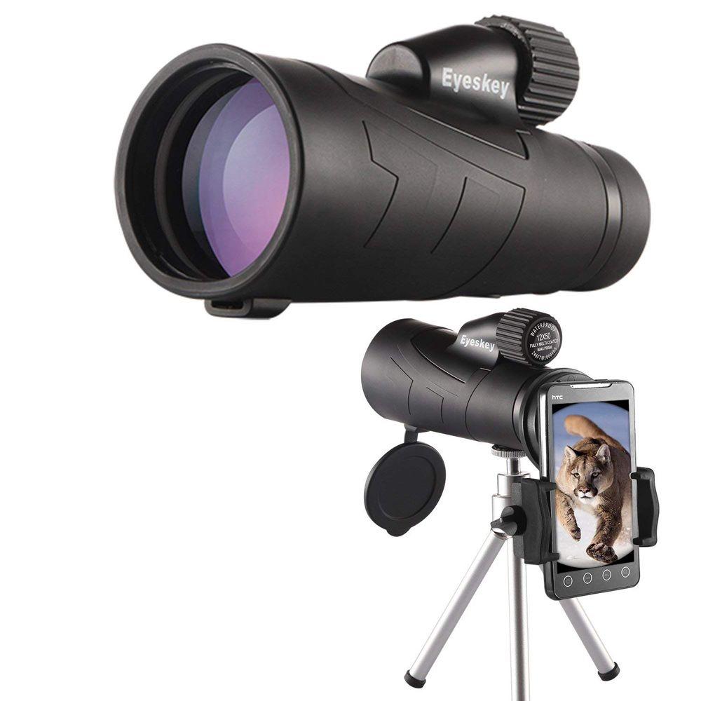 12x50 monoculaire vue optique étanche monoculaire qualité pour télescope de chasse haute puissance monoculaire avec optique de prisme BaK4