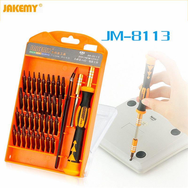 JAKEMY JM-8113 Précision Tournevis Set outils À Main 39 en 1 Vis Démonter matériel tournevis outil de réparation pour Ordinateur Portable téléphone