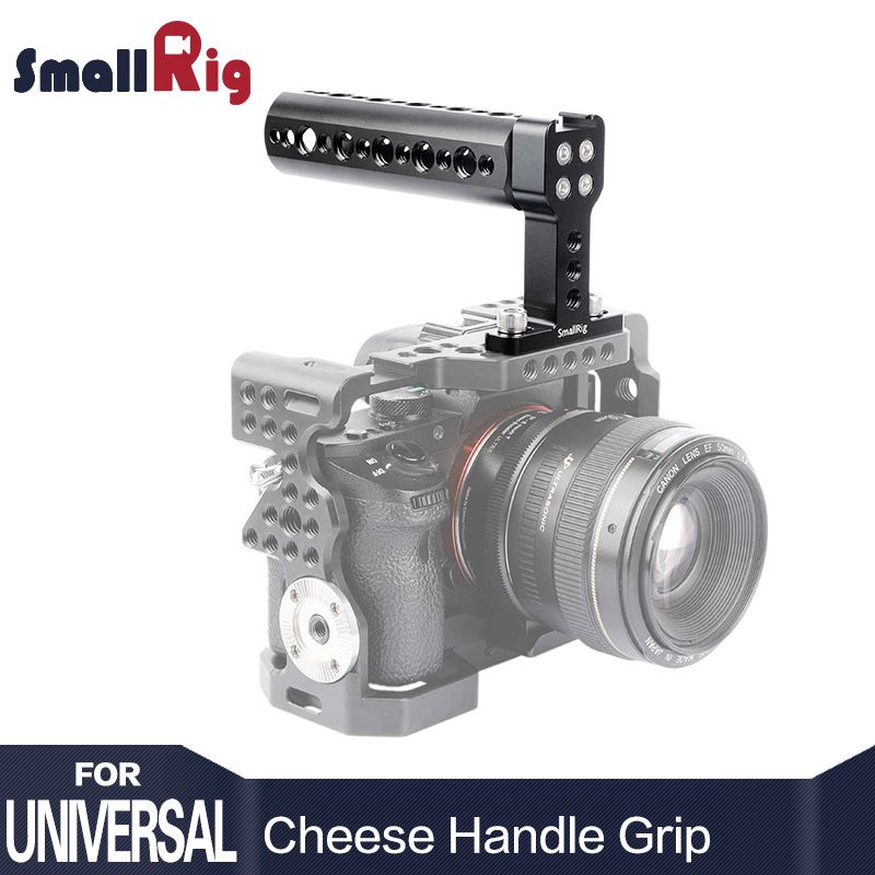SmallRig Aluminum Top Handle Cheese Handle Grip with Cold <font><b>Shoe</b></font> Base for Digital Dslr Camera - 1638