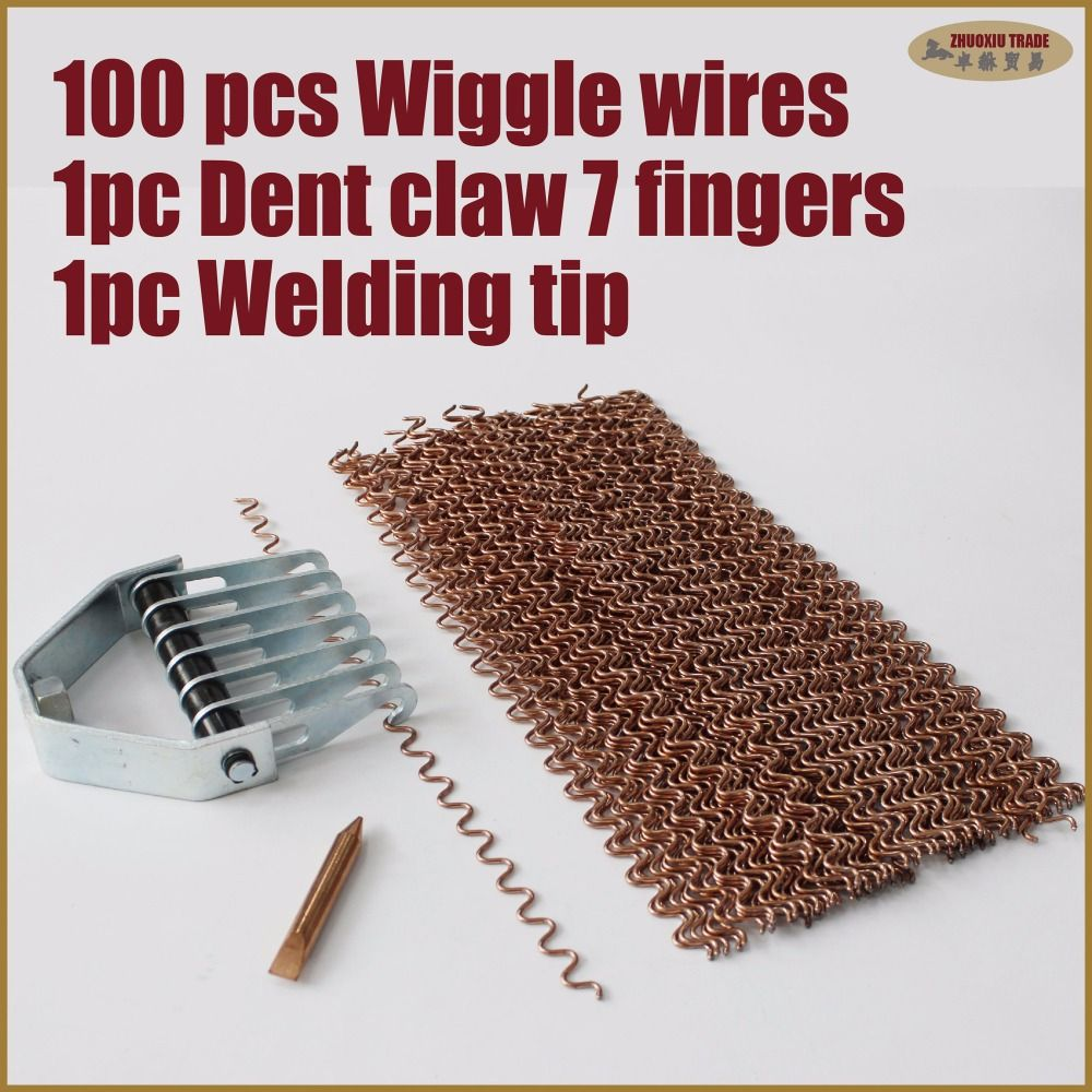 dent repair wiggle wire bear claw electrode car body hand tools dent puller kit remover set pulling system automotive bodywork