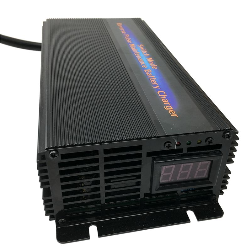 48V 20A Car Battery Charger Maintainer Desulfator 7-step Pulse Maintenance-free Lead Acid Battery Charger Suitable for 60-180AH
