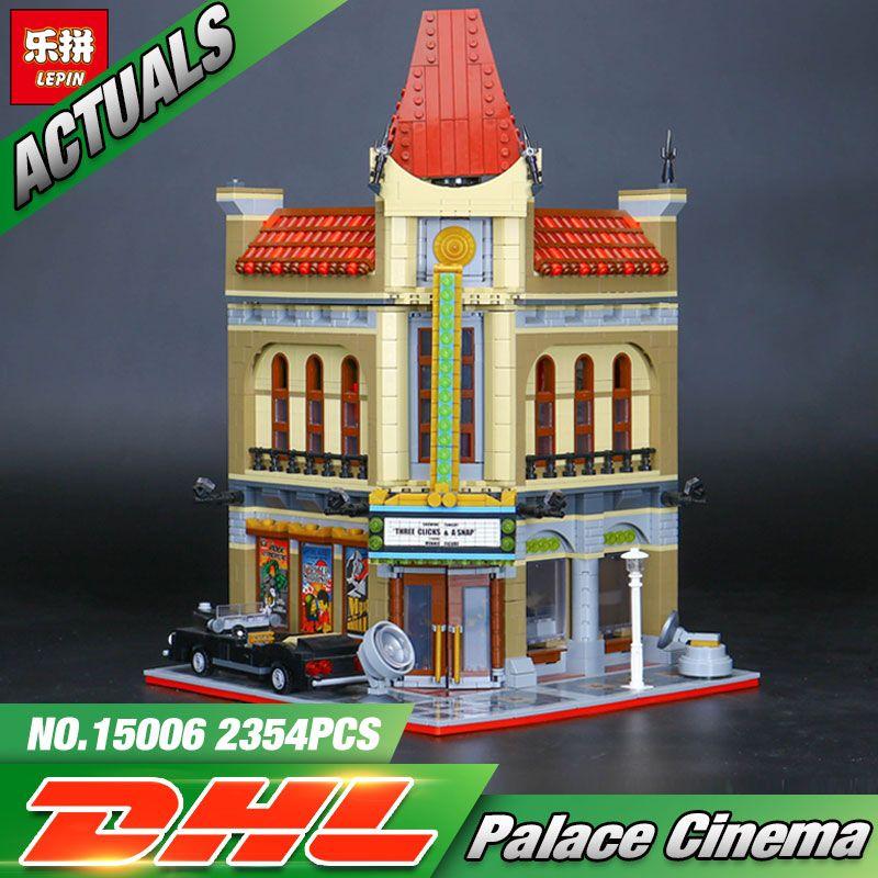 LEPIN 15006 2354pcs Palace Cinema Model Building Blocks Set Bricks Toys Compatible 10232 Toys For Children