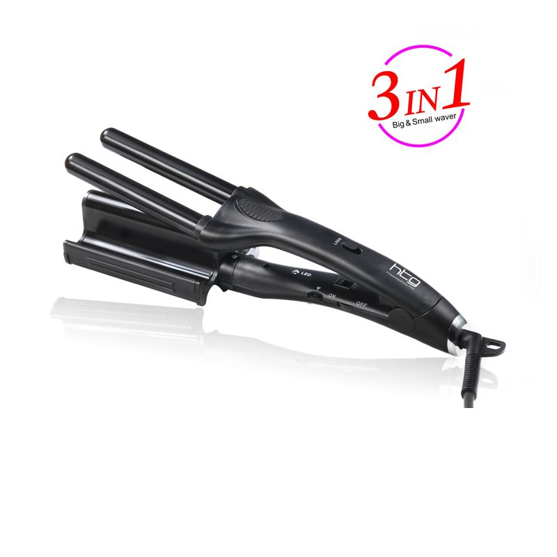 3 in 1 HTG Hair Curling iron Hair curler curling curl iron Reversible Big small wave styles triple barrel Deep Waver Iron