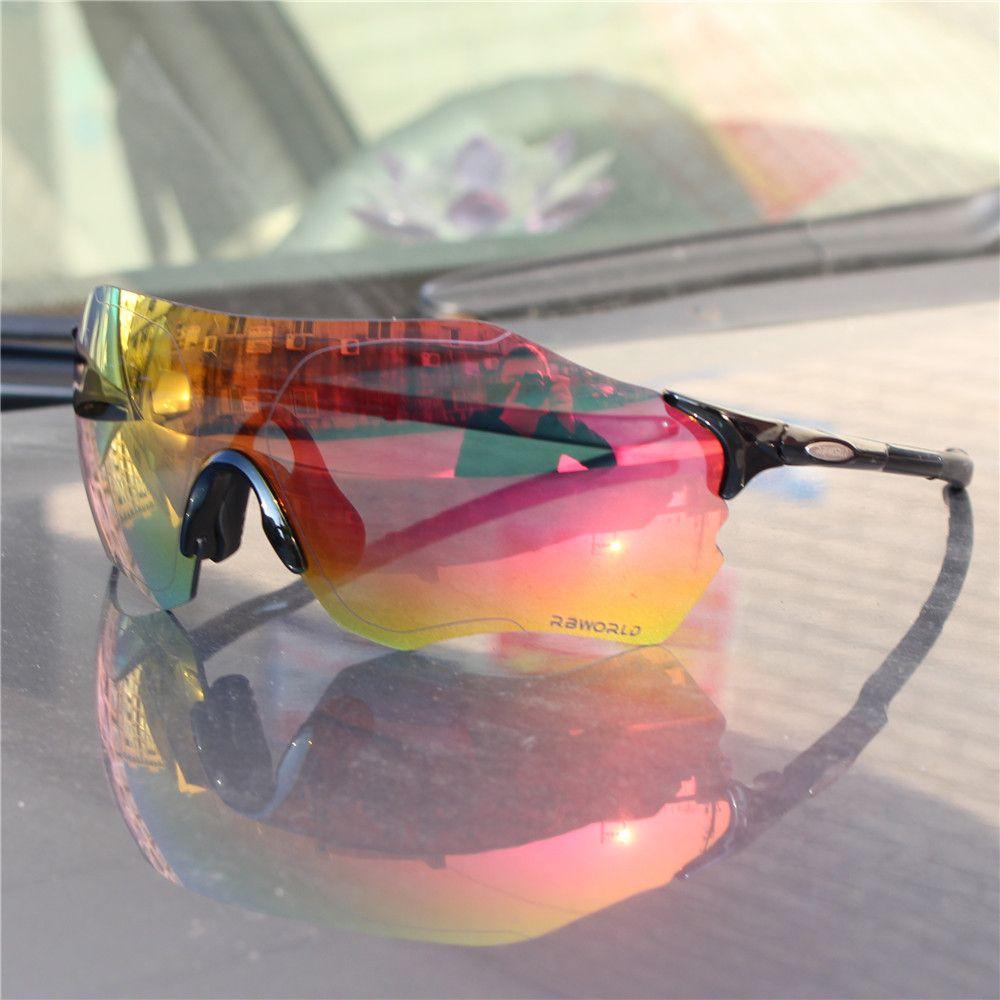 Pleine lentille rouge TR90 Sports lunettes de cyclisme polarisées hommes vtt montagne vélo de route lunettes de soleil lunettes Gafas Ciclismo
