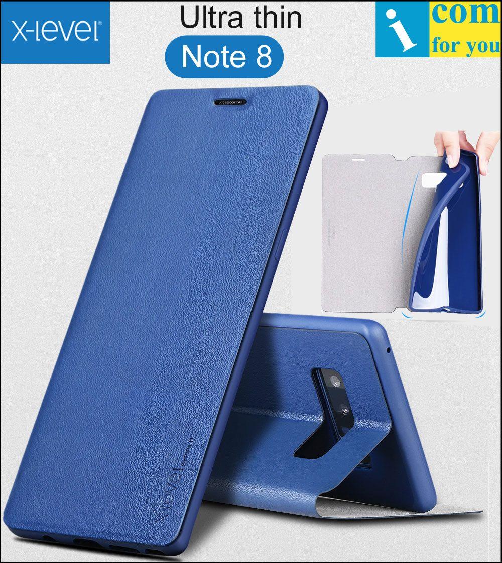 X-уровень книга кожа флип чехол для Samsung Galaxy Note 8 fibcolor ультра тонкий х уровень бумажник ТПУ note8