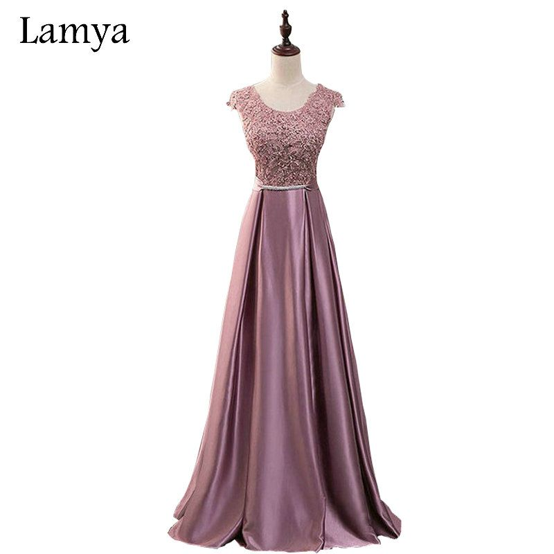 Lamya Prom Dresses Long A Line Elegant Floor-length Sexy Plus Size Evening Party Gowns Robe De Soire EV1934