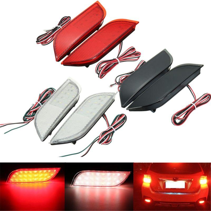 2x26 LED Stoßstange Hinten Reflektor Schwanz Bremse Stop Fahren Drehen Licht Für Subaru/Impreza/XV/ WRX/LEVORG/Crossover/Exiga