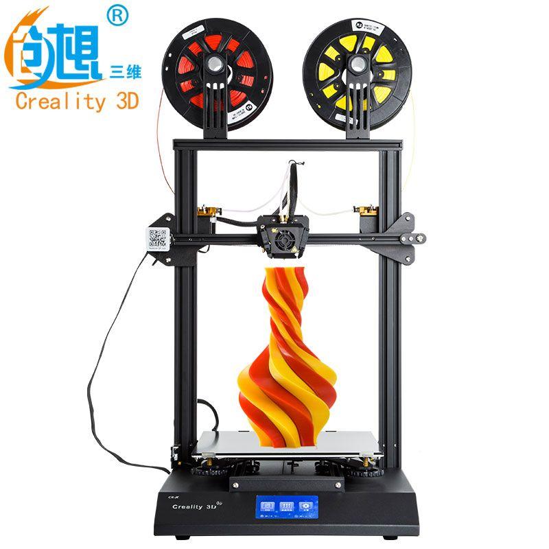 Creality 3D CR-X 3D Drucker Dual-farbe Optional DIY KIT Touchscreen Große druck größe Dual Fan Kühlen + 2 kg filament