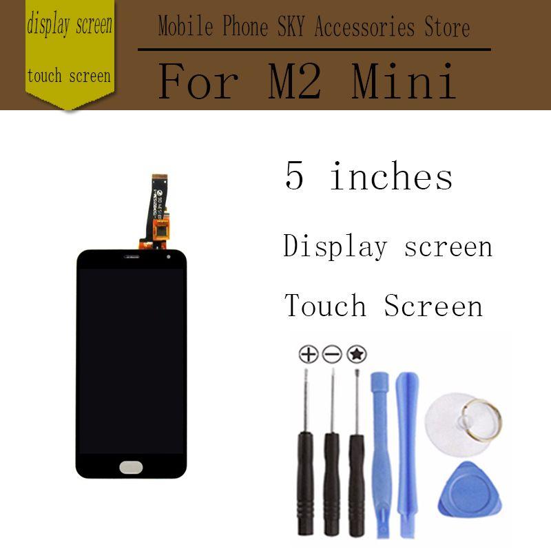 Pour meizu m2 mini lcd écran tactile digitizer + affichage 5.0