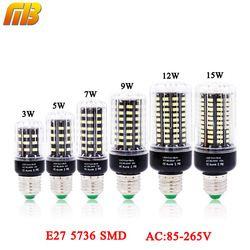 Lâmpada LED SMD 5736 E27 LEDs Lâmpada Luz 3 W 5 W 7 W 9 W 12 W 15 W CONDUZIU a Luz do Milho Lâmpadas AC 110 V 220 V Lampada Sem Cintilação de Corrente Constante