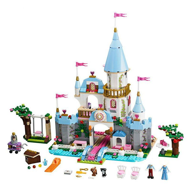 Princess Legoings Cinderella Elsa Anna Mermaid Ariel Castle Building Blocks Figure Girl Friends Bricks Toys