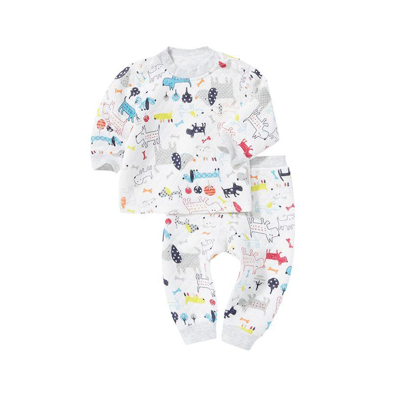 2018 Date multicolore d'hiver Garçons et Filles Vêtements chaud coton de Bébé Ensembles ME1-ME14