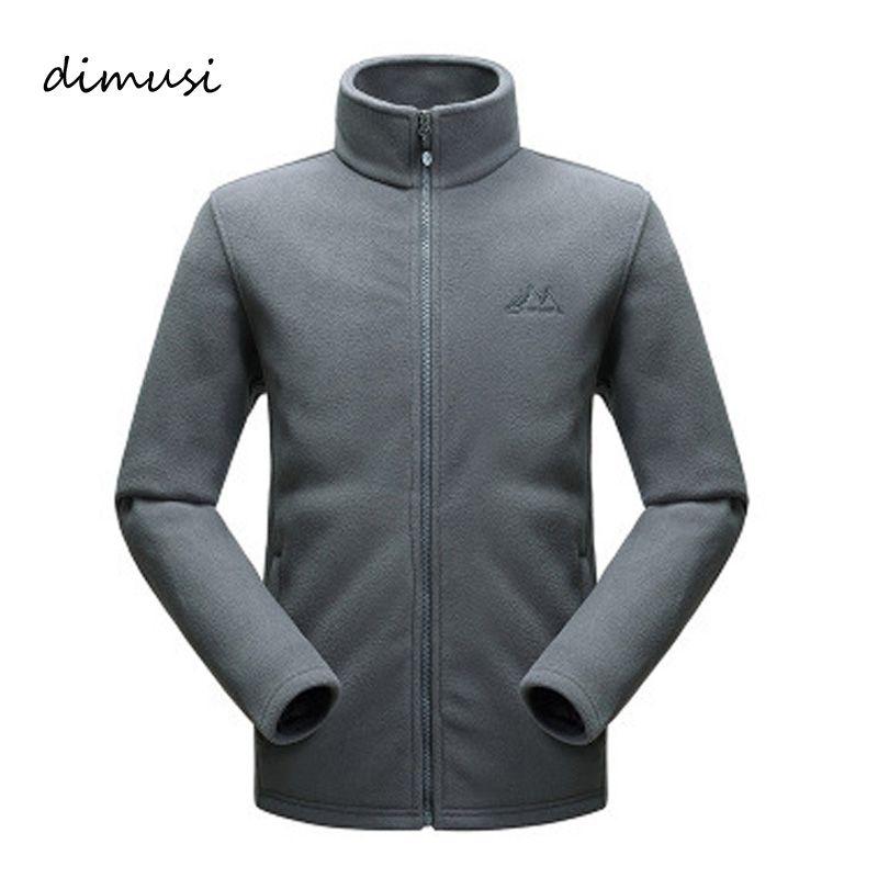 Dimusi зима теплый флис осенняя куртка Для мужчин Thicked флисовая куртка Термальность ветровка зимние пальто 3XL, ta014
