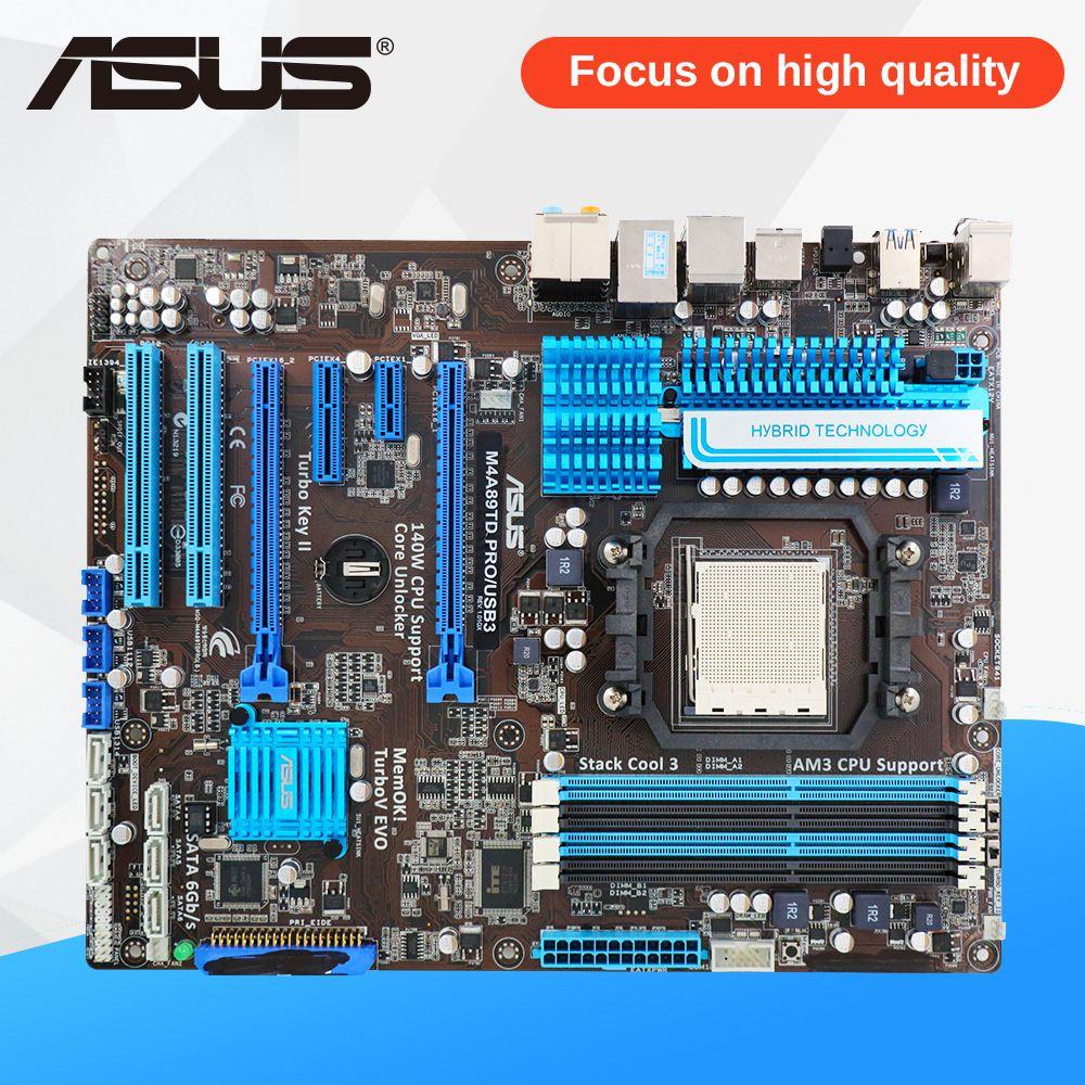 Asus M4A89TD PRO/USB3 Desktop Motherboard M4A89TD PRO USB3 890FX Socket AM3 DDR3 SATA3 USB3.0 ATX
