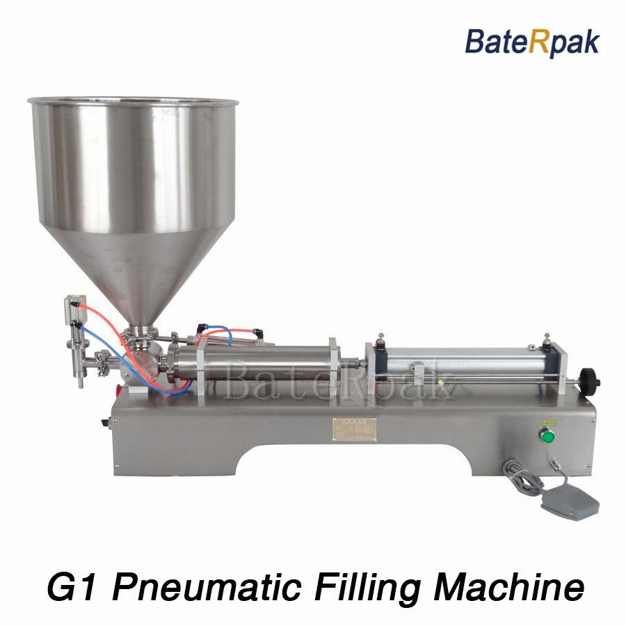 G1 stainless steel horizontal pneumatic paste automatic filling machine,BateRpak high viscosity paste filling machine,5-100ml