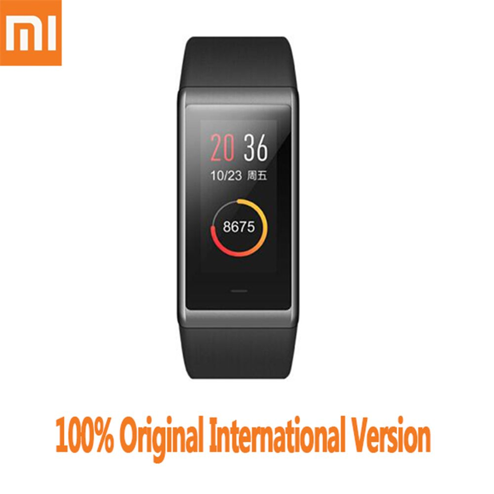 Original Xiaomi AMAZFIT Cor Smartband International Version Bluetooth 4.1 IPS Colorful Screen 50 <font><b>Meters</b></font> Waterproof Heart Rate
