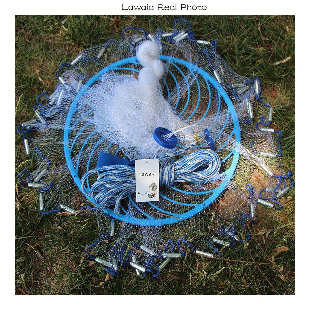 Lawaia tiefe loch cast net Heißer Verkauf durchmesser 2,4-4,8 mt Amerikanischen Stil alten salz cast netze Kleine Mesh fischernetz mit Ringe