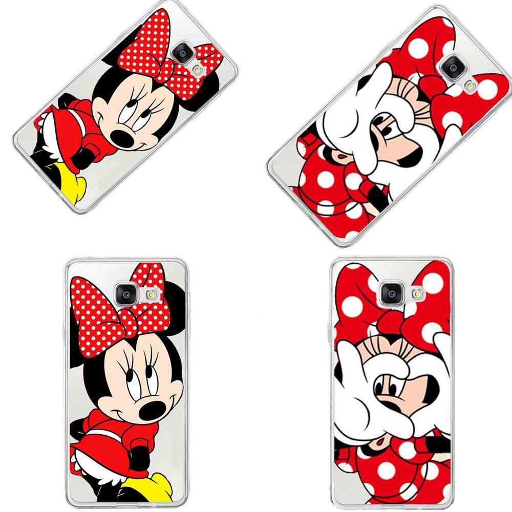 Drôle Emoji Couverture Pour Samsung A3 A5 A7 J1 J5 J7 2016 bande dessinée Minnie Mickey Mouse Point Daisy Duck Couverture Arrière Coque Capa Cas