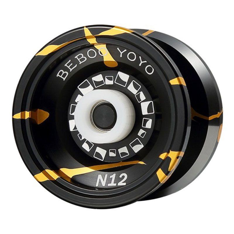 Métal Yoyo Yoyo Professionnel Mis Yo yo + Gant + 5 Cordes N12 Yo-yo Haute Qualité Métal Yoyo Classique Jouets diabolo Cadeau Présent