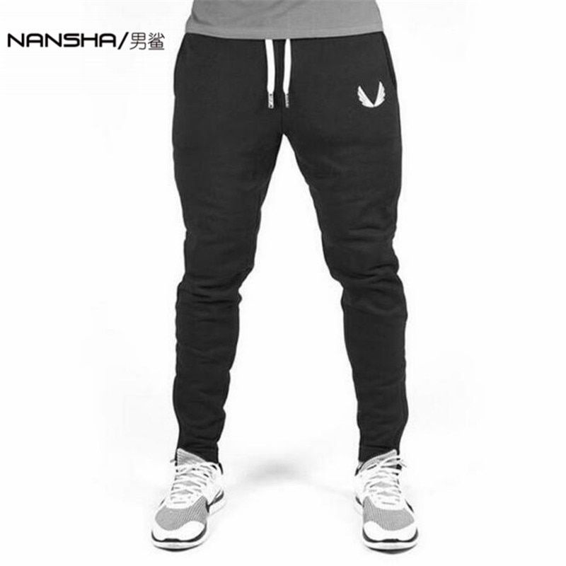 2017 High Quality Jogger Pants Men <font><b>Fitness</b></font> Bodybuilding Gyms Pants For Runners Brand Clothing Autumn Sweat Trousers Britches