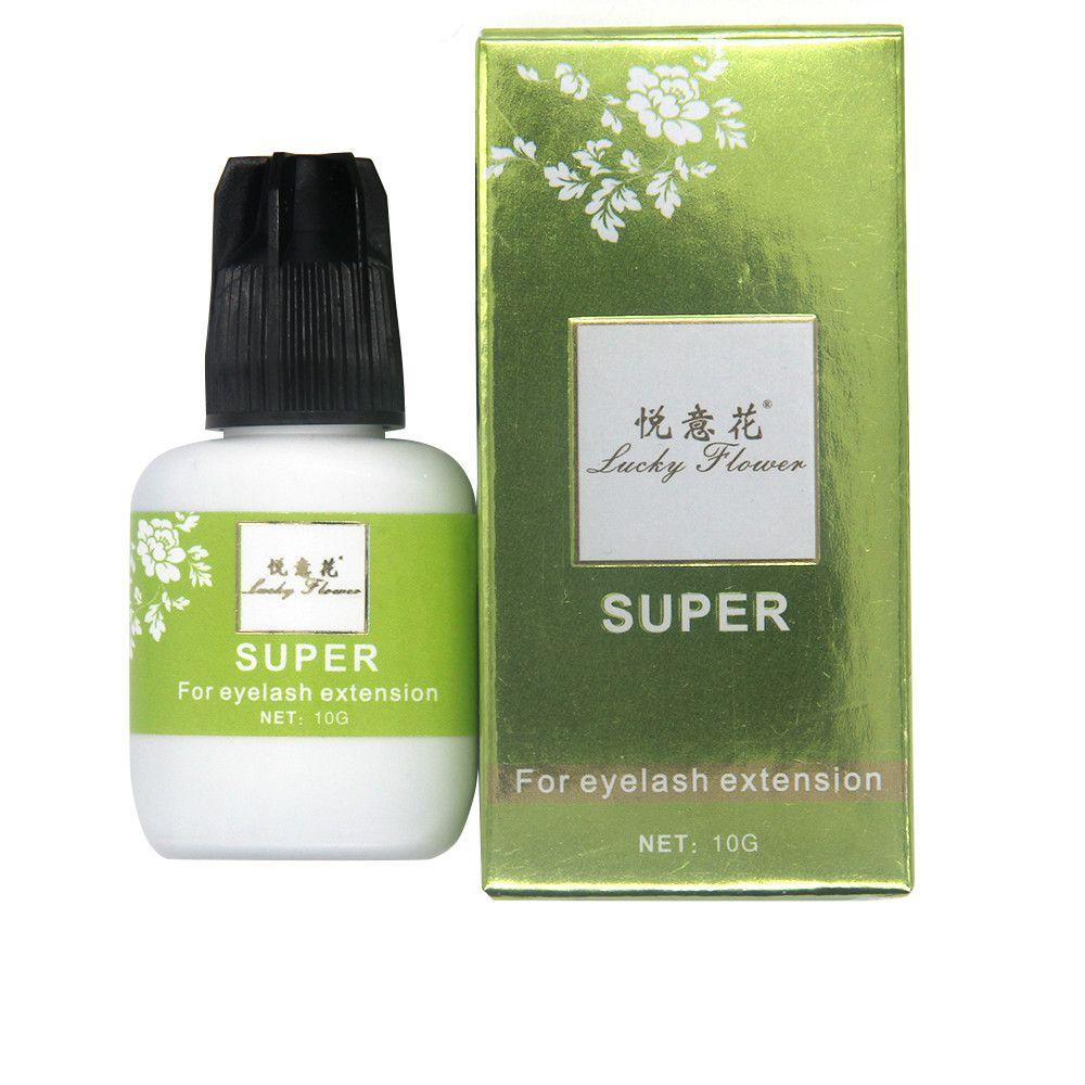 Lucky Flowe longue durée 50 jours faux cils colle 10 ml professionnel individuel cils Extension colle faible odeur faible Irritant