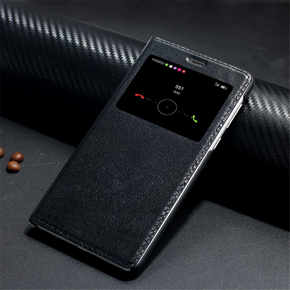 Véritable flip Étui En Cuir Pour huawei honor 6x Cas avec Fenêtre de couverture arrière de téléphone sacs de luxe Marque conception
