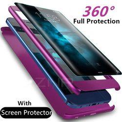 ZNP lujo 360 grados cubierta completa caso de teléfono para Samsung Galaxy S9 S8 más cubierta a prueba de golpes para Samsung Nota 8 s7 borde S9 caso