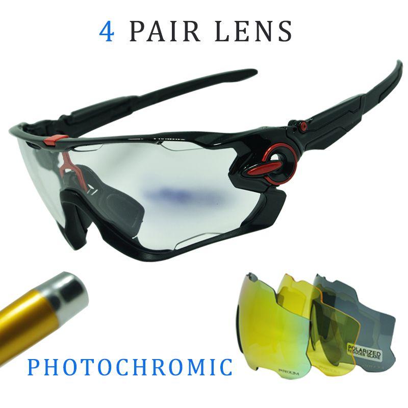 4 lentille Hommes Femmes Sports de Plein Air Cyclisme Lunettes Polarisées Photochromiques Hommes Cyclisme Lunettes lunettes de Soleil avec Myopie Cadre