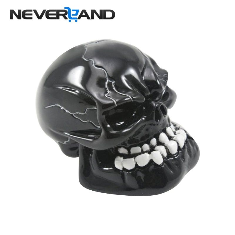 NEVERLAND Universal Manual Gear Shift Knob Shifter Lever Knob Black Skull pomo marchas
