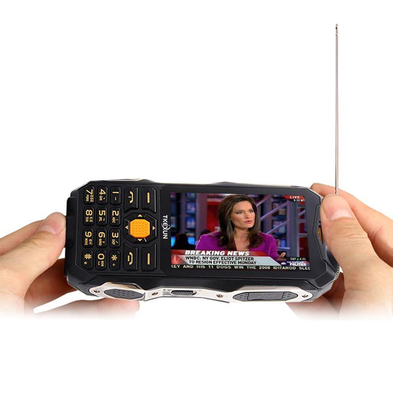 TKEXUN Q8 Analogique Livraison TV Power Bank Téléphone Portable 3.5
