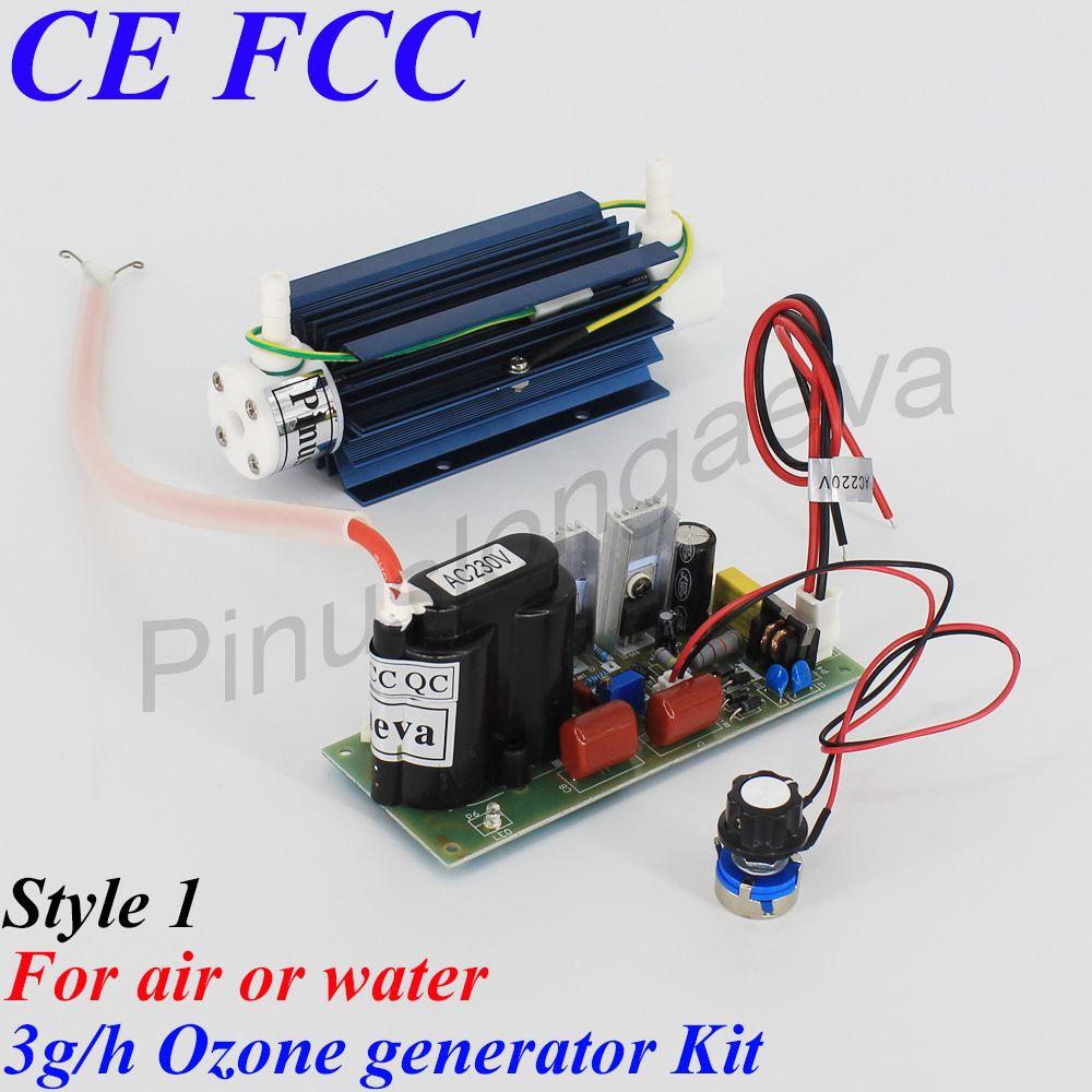 Pinuslongaeva 3 G/H 3 grammes réglable type de tube de Quartz Kit de générateur d'ozone pièces de générateur d'ozone médical purificateur d'air d'eau d'ozone