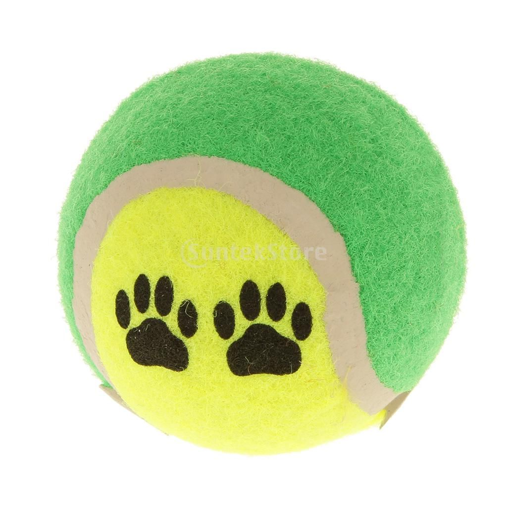 Random One Pet Dog Puppy Tennis Ball Throw Fetch Play Ball Cat Pup Chew Toy