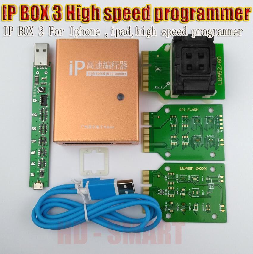 IP boîte 2 BOÎTE IP 3 haute vitesse programmeur pour téléphone pad disque dur programmers4s 5 5c 5S 6 6 plus mise à niveau de mémoire outils 16g to128gb