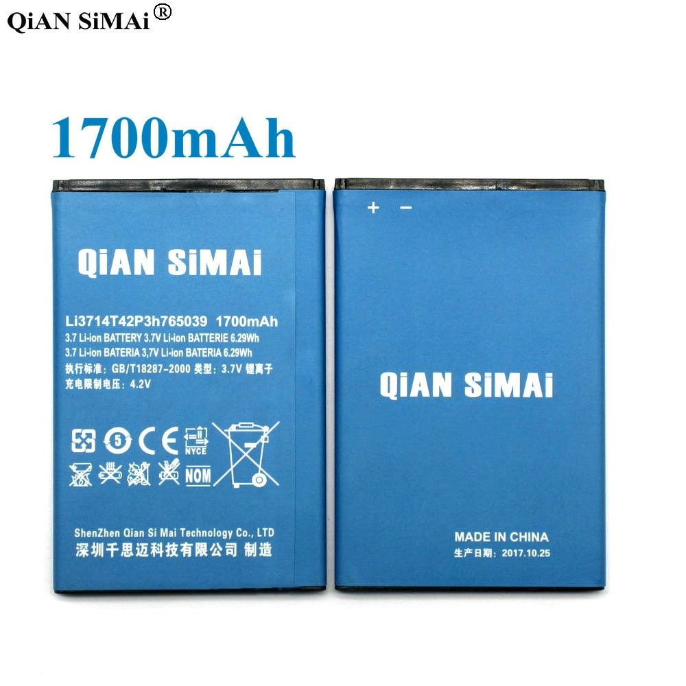 QiAN SiMAi 1700mAh Li3714T42P3h765039 Battery Replacement for ZTE Blade A3 T220 Battery AF3 T221 A5 AF5 Mobile Phone