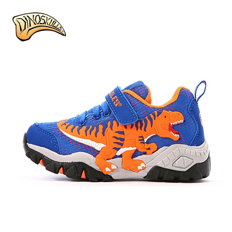 Dinoskulls Kids Shoes Boys Sport Children's Shoes Brand Boys Sneakers 2018 Leather Breathable <font><b>Running</b></font> Shoe 3D Dinosaur Shoes