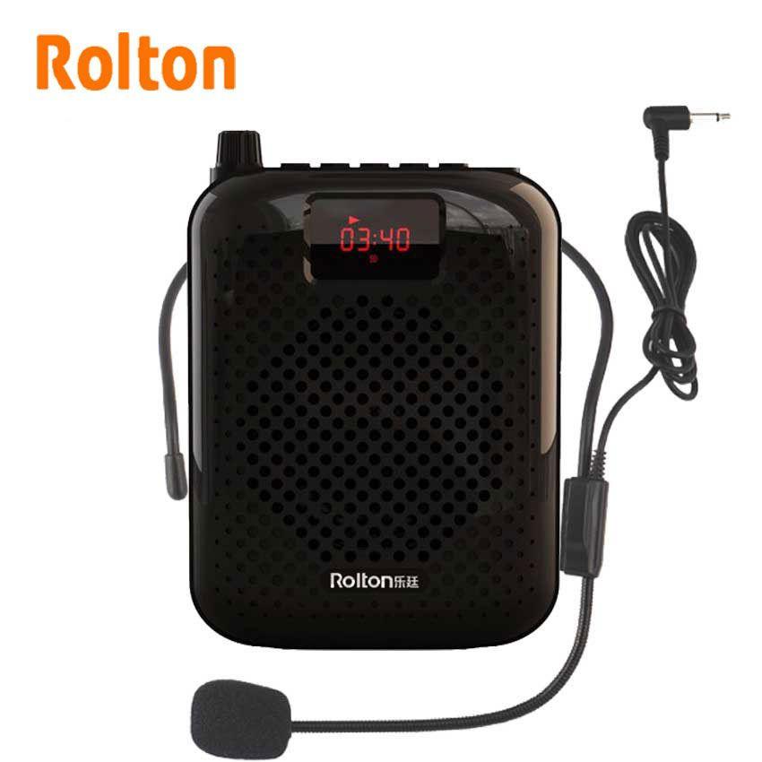 Rolton K500 haut-parleur Bluetooth Microphone amplificateur vocal Booster mégaphone haut-parleur pour l'enseignement Guide touristique Promotion des ventes