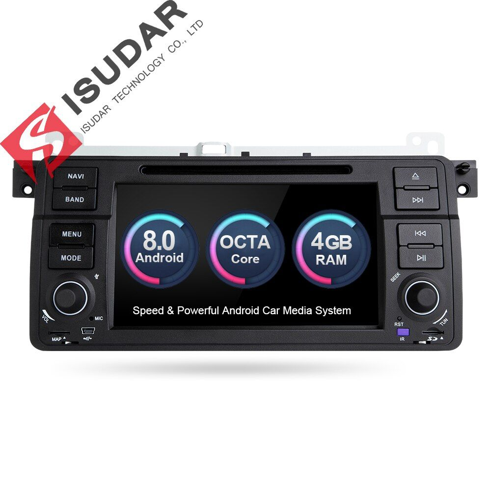 Isudar Car Multimedia player Android 8.0 GPS Autoradio 1 Din Stereo System For BMW/E46/M3/Rover/3 Series RAM 4G WIFI FM Radio