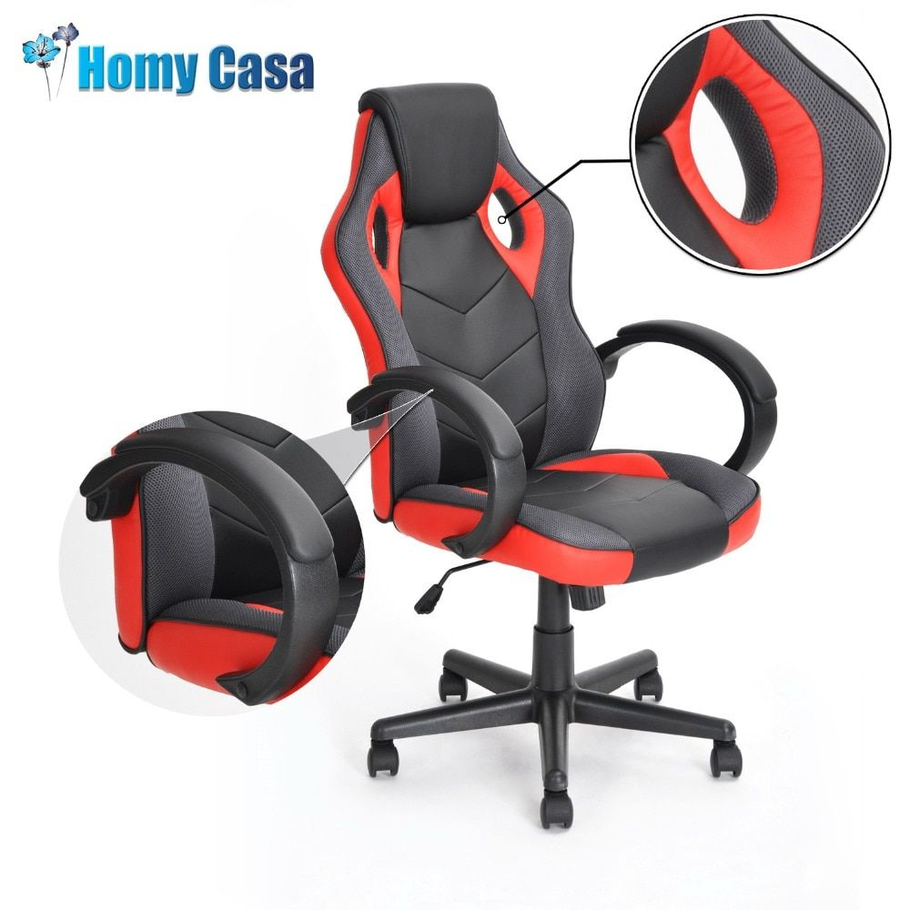HOMY CASA adjustable height Reclining Office chair Game armchair Computer gaming gamer racing Chair