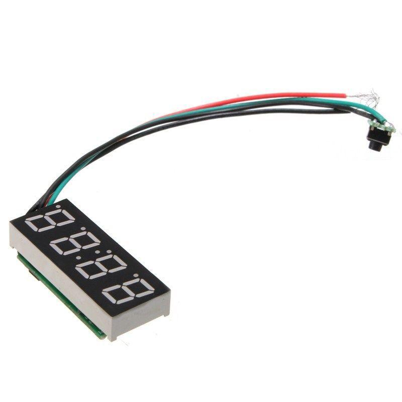 LED Digital Clock For 24 Hours Car MOTO Adjustable 7-30V DC White